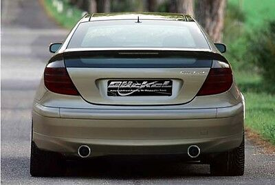 Mercedes Benz CL203 Klappenauspuff Sportauspuff Auspuff Edelstahl Duplex 2x76 mm