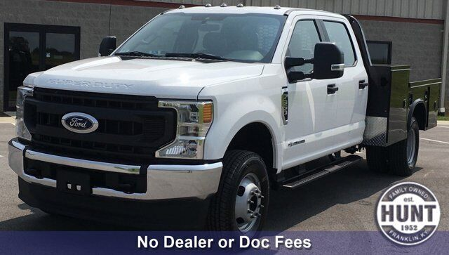 2020 Ford Super Duty F-350 DRW XL 150 Miles Oxford White Crew Cab Chassis-Cab In