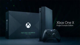 Xbox One X 1tb New and Sealed SCORPIO LIMITED EDITION version with stand