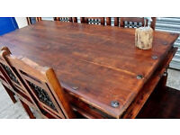 dining table with chairs (delivery available)
