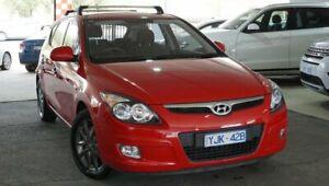2012 Hyundai i30 FD MY11 SX Red 5 Speed Manual Hatchback