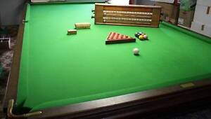 Antique Heiron and Smith full size billiard table - over 100 year Rainbow Flat Greater Taree Area Preview