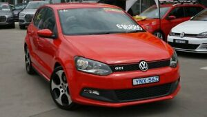 2014 Volkswagen Polo 6R MY14 GTI DSG Red 7 Speed Sports Automatic Dual Clutch Hatchback