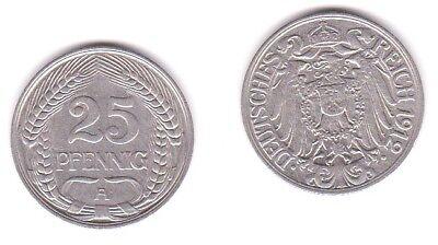 25 Pfennig Nickel Münze Deutsches Reich 1912 A  (117718)