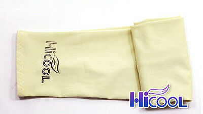 New High Cool 1Pair Arm Sleeves Cooling UV Sun Protect Golf Cycling Toshi Yellow