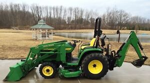 2004 JOHN DEERE 4310 4X4 TRACTOR LOADER BACKHOE MOWER