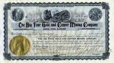 WOW - Big Four Gold and Copper MC signed by early car maker John W. Henney and