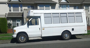 2002 Ford E-350SD MiniBus w/7.3L PowerStroke diesel. From BC.
