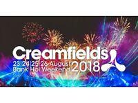 3 day standard creamfields ticket