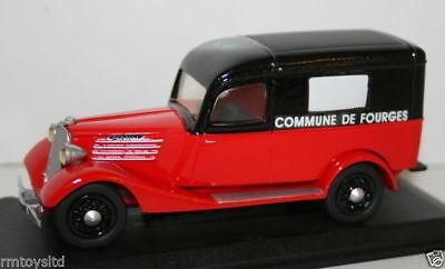 PARADE 1/43 SCALE RESIN MODEL 4354 1937 RENAULT 500KG POMPIERS