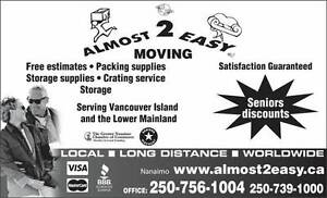A2E deal! 2 movers + our 5 ton truck, $89.00 a hour.