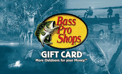 50 Bass Pro Shops Gift Card   Mail Delivery