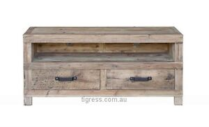 """NEW """"Avalon"""" Reclaimed Timber TV Unit 2 Drawer 140cm Castle Hill The Hills District Preview"""