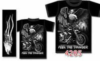 Motorcycle, Native Wolf T-Shirts