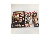 Two DVD collection 300 & meet the Spartans action adventure comedy film movie