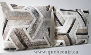 promotion set coussin tapis peau de vache cowhide rug