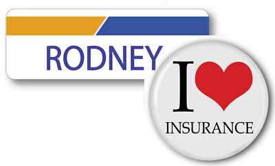 Rodney Progressive Insurance Pin Name Badge   Button Halloween Ships Free