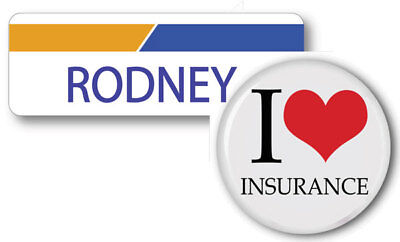 Rodney Progressive Insurance Magnet Name Badge   Button Halloween Ships Free