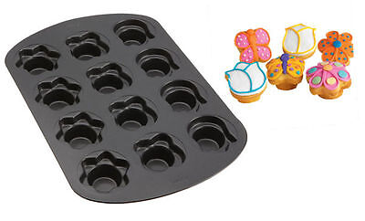 Butterfly Flower Tulip Cupcake Pan 12 cavities From 265 Butterfly Cupcake Pan