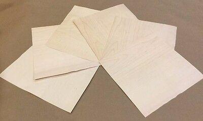 Maple Wood Veneer Rawunbacked - Pack Of 6 - 9 X 9 X 0.024 Sheets