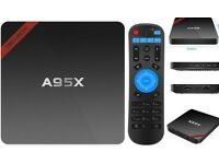 A95X android TV box, bnib