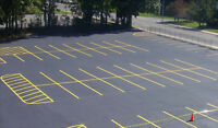 Parking Lot Line Painting / Pavement marking