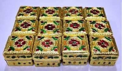 GOLDEN HALDI KUM-KUM DABI Wooden (12 Pieces, Multicolor)