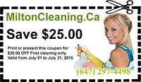 MILTON CLEANING.CA. WE CLEAN YOUR HOUSE LIKE OURS!!!!!