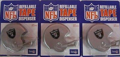 3pc OAKLAND LA RAIDERS NFL TAPE DISPENSER HELMETS cool football novelty toy G35k](Toy Football Helmets)