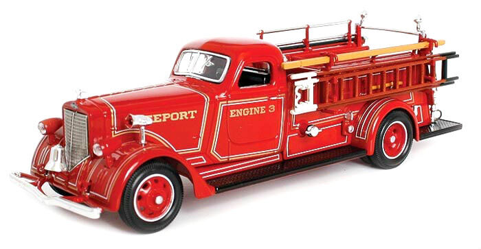 In Box 1/43 Diecast 1939 American Lafrance B-550rc Fire Truck