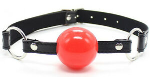 Soft Rubber Faux Leather 40mm Silicon Ball Gag 'G01'
