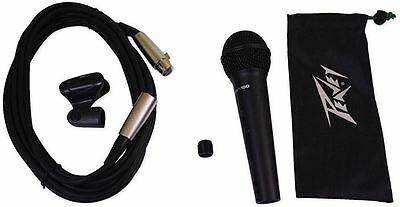 Peavey PVI100XLR Wired Dynamic Cardioid Vocal Microphone+Case+Mic Clip + Cable