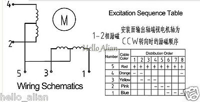Details zu 2PCS Lei Li 35BY412 35mm DC 12V 4-Phase 5-wire Gear Electric on