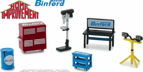 Greenlight 1/64 Home Improvement BINFORD Shop Tool Set HOBBY