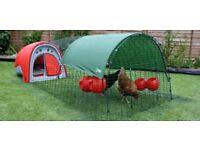 Classic EGLU Rabbit Hutch or Chicken Coop in Red
