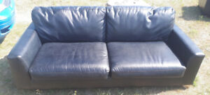 Brown Leather look sofa and loveseat
