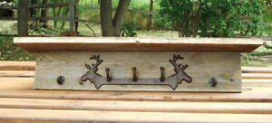 Rustic Barn Board Moose Coat Rack