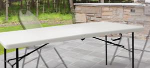 HDX 6' CENTRE FOLDING TABLE, WHITE