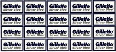 Gillette Silver Blue Double Edge Razor Blades- 100 Blades - Made in Russia
