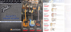 August is Fender Month at Long & McQuade! See us in Cobourg!