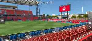 TFC vs Seattle - 8 rows up - center field. 2 tickets
