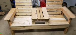 Cedar patio bench