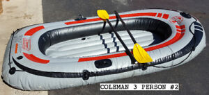 COLEMAN 3 PERSON INFLATABLE DINGHY