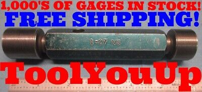 1 27 Ns Thread Plug Gage 1.000 P.d.s .9783 .9812 Machinist Tooling Shop