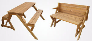 Folding picnic table / bench