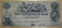 WANTED WESTMORLAND BANK NOTES PAPER MONEY