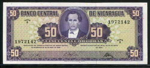 Nicaragua 1968, 50 Cordobas, P119, GEM UNC