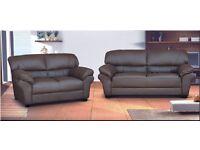 3+2 Sofa Set Brown Leather PU COMFORTABLE GOOD QUALITY SOFA SET NEW