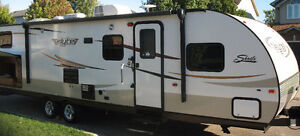 31' Shasta Flyte travel trailer for rent.