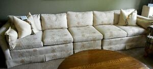 Couch and Wing Back Chair Set